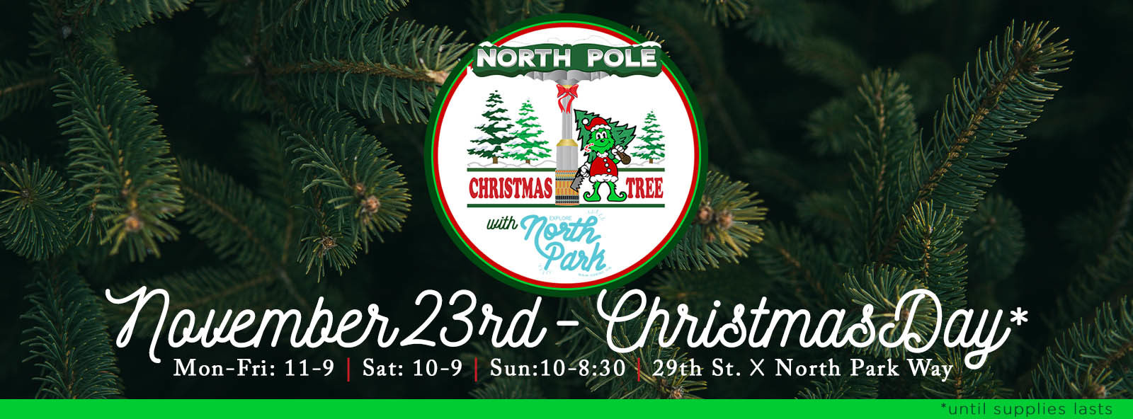 come check out the christmas tree lot