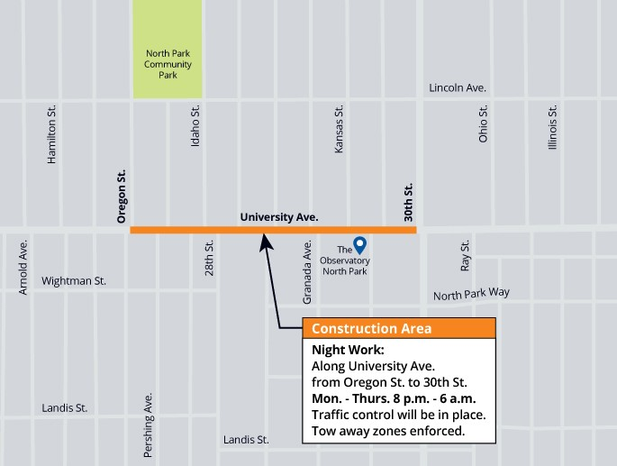 30th Street Pipeline Replacement A Project – Update #1