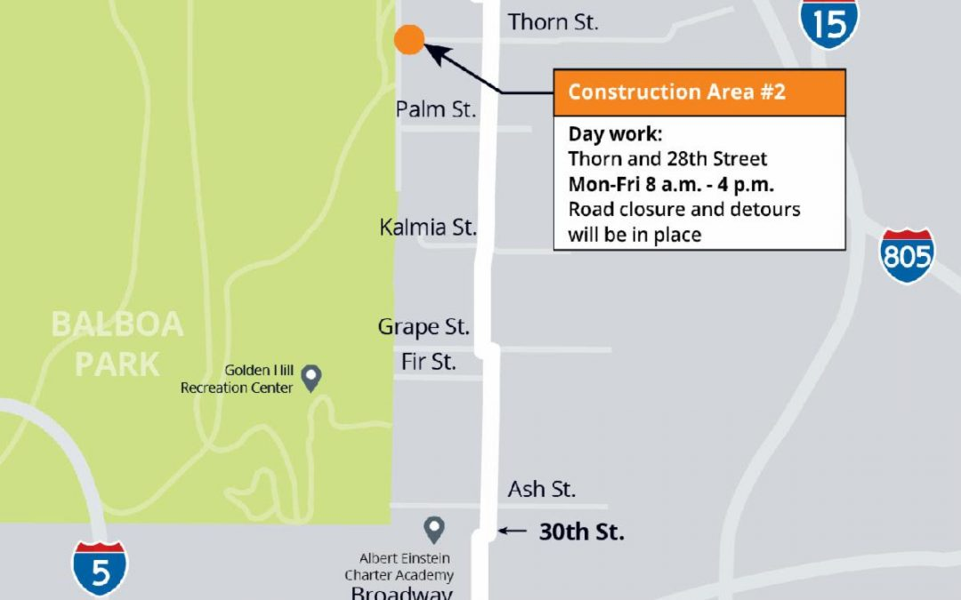 30th Street Pipeline Replacement Project –  Update #20
