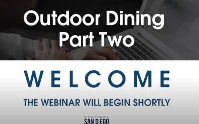 Outdoor Dining Webinar from Downtown San Diego Partnership