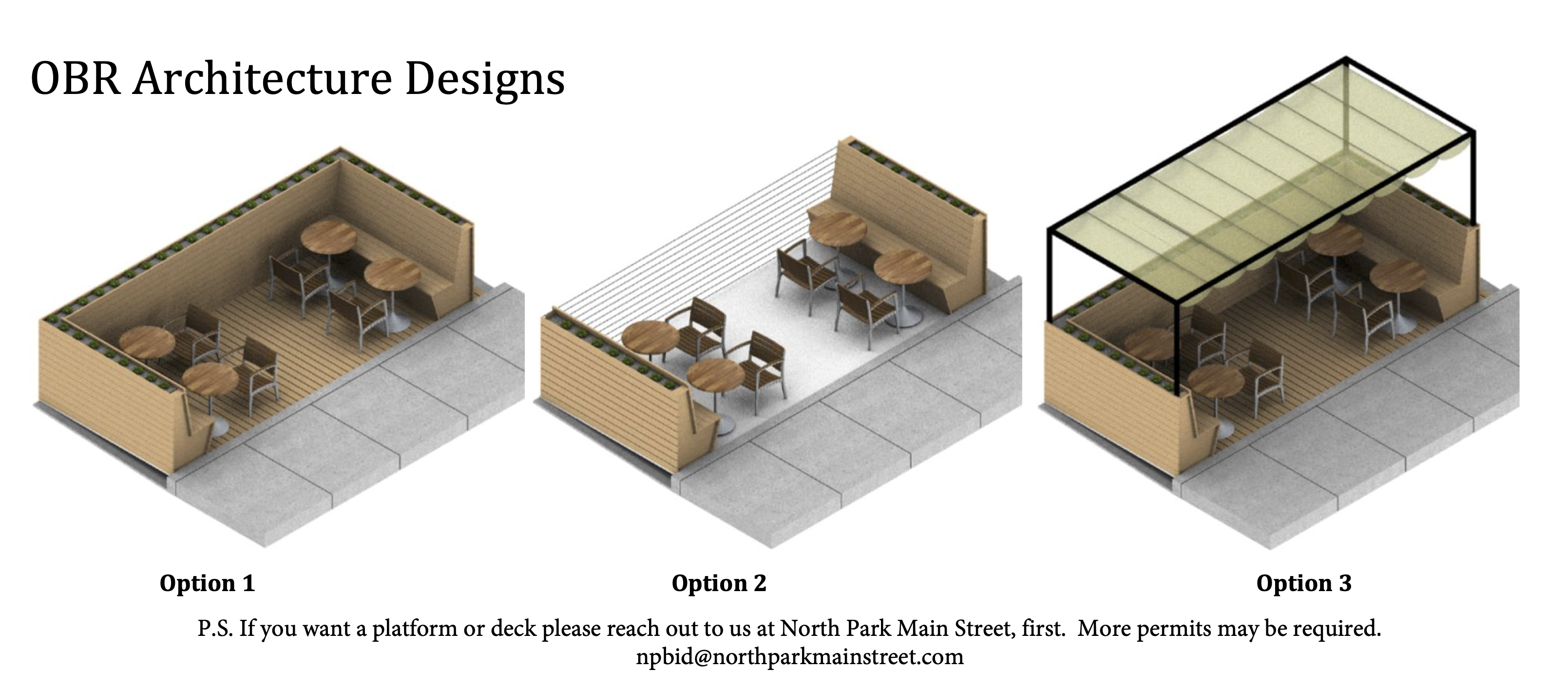 OBR Prefabricated Parklet